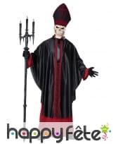 Déguisement de prêtre squelette pour homme