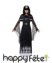 Déguisement de prêtresse occulte noir