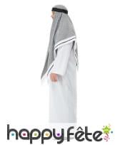 Déguisement de prince arabe gris et blanc, adulte, image 1