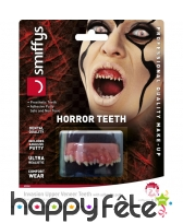 Dentier de petites dents pointues de monstre