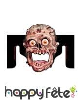 Distributeur de papier wc tête de zombie, image 1