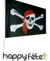 Drapeau de pirate avec hampe