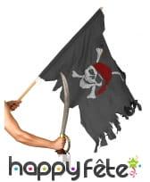 Drapeau de pirate déchiré, 74 x 102 cm, image 1