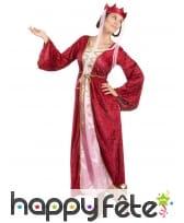 Déguisement de reine médiévale imitation velours, image 1