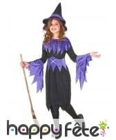 Déguisement de sorcière noir et violet pour fille, image 1