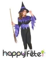 Déguisement de sorcière noir et violet pour fille, image 2