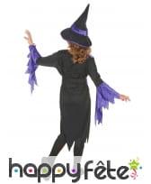 Déguisement de sorcière noir et violet pour fille, image 3