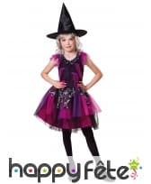 Déguisement de sorcière rose violet pour fille