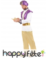 Déguisement de sultan violet, blanc et doré, image 1