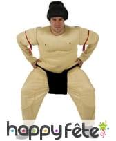 Déguisement de sumo matelassé pour adulte