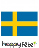 Drapeau de Suède de 90 x 150 cm