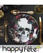 Déco de table Dia de los muertos fleuri, image 1
