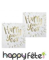 Déco de table Happy New Year blanche et dorée, image 4