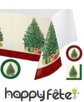 Déco de table imprimé Sapin de Noël