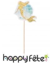 Déco de table sirène hippocampe pour anniversaire, image 6