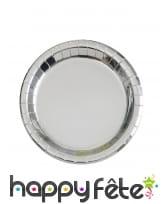 Décor de table argenté métalisé, image 1