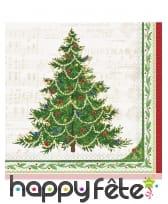 Décoration de table Arbre de Noël rouge et verte, image 1
