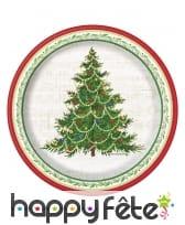 Décoration de table Arbre de Noël rouge et verte, image 2