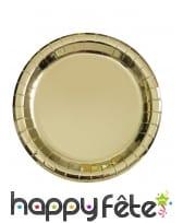 Décoration de table dorée métallisée, image 1