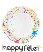 Décoration de table étoiles multicolores, image 2