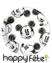 Décoration de table Mickey Mouse noir et blanc, image 1