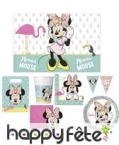 Décoration de table Minnie Mouse tropical