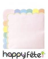 Décoration de table rose festonnée, image 2