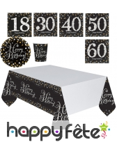 Décorations de table d'anniversaire VIP