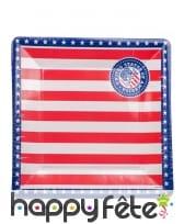 Déco drapeau USA pour table, image 1