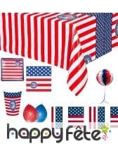 Déco drapeau USA pour table