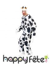 Déguisement de vache à taches noires pour adulte