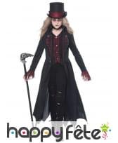 Déguisement de vampire noir pour fille, image 1