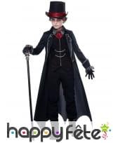 Déguisement de vampire noir pour garçon, image 1