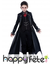 Déguisement de vampire noir pour garçon
