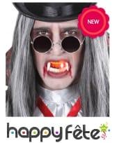 Dentier de vampire lumineux pour adulte, image 2