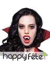 Dents de vampire blanches pour adulte