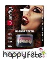 Dents de vampire, mâchoire du haut