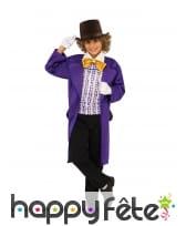 Déguisement de Willy Wonka pour garçon