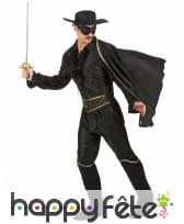 Déguisement de Zorro pour homme adulte, image 2