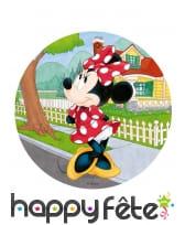 Disque en azyme Minnie Mouse à pois blancs, 20 cm