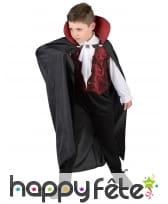 Déguisement enfant de vampire avec longue cape, image 1