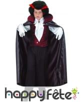 Déguisement enfant de vampire avec longue cape, image 3