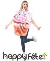 Déguisement en forme de cupcake pour femme