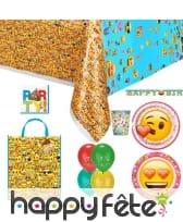 Décoration Emoji pour table d'anniversaire