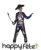 Déguisement enfant pirate zombie