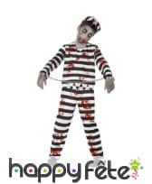 Déguisement enfant prisonnier zombie