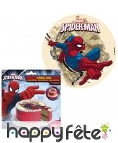 Disque en sucre Spiderman, 16cm