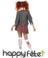 Déguisement écolière zombie horreur, image 2