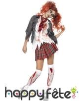 Déguisement écolière zombie horreur