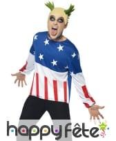 Déguisement fête drapeau américain